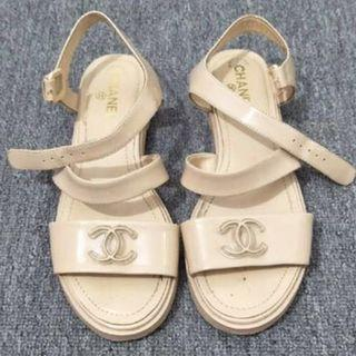 Authentic Chanel Beige Sandals