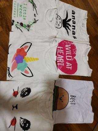 Bundle Sale - 6 pieces of 4to5T girls Tops