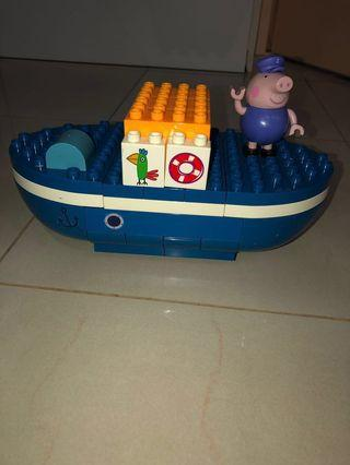 Sale of Pre-Owned PEPPA PIG Grandpa Pig's Boat Construction Set