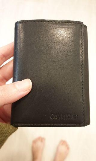 Calvin Klein men's wallet full grain leather 3-fold