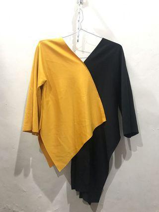 Yellow-Black Blouse