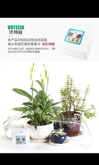 自動 定時 植物盆栽 淋水器 乾濕電兩用