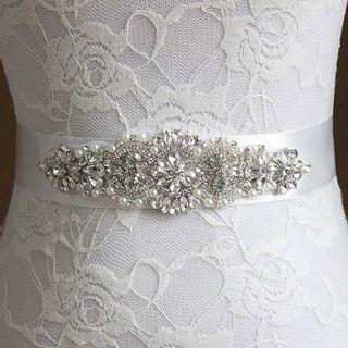 🆕新娘禮服閃石腰帶 Wedding Bride Rhinestone Sash
