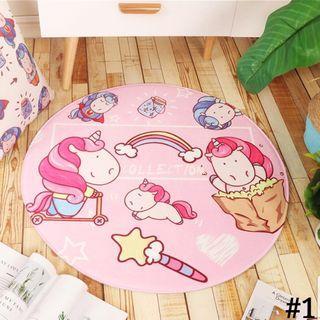 Unicorn/Modern Round Carpet
