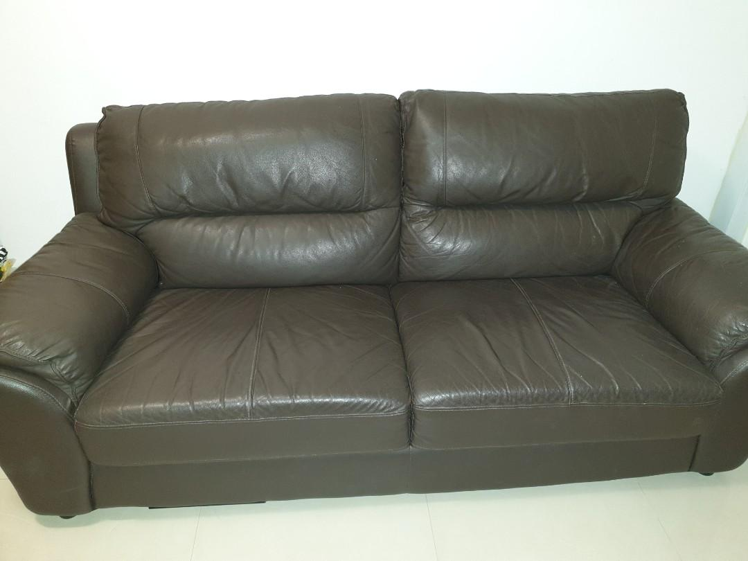 Surprising Clearance 2 Seater Leather Sofa Furniture Sofas On Carousell Beutiful Home Inspiration Xortanetmahrainfo