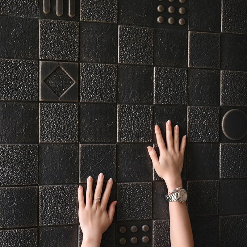 4pcs 70x70cm XPE Foam 3D Wall Stickers Home Decor Wallpaper