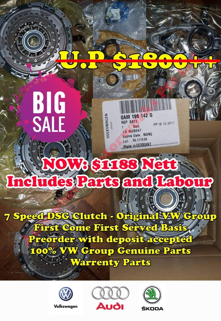 7 Speed DSG Clutch Original VW Parts is here! Now with bigger promotion   Grab yours today  Promotional