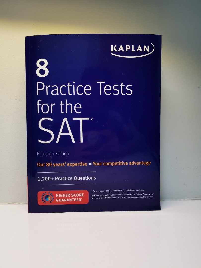 8 Practice Tests for the SAT, Kaplan 2018 15th Edition