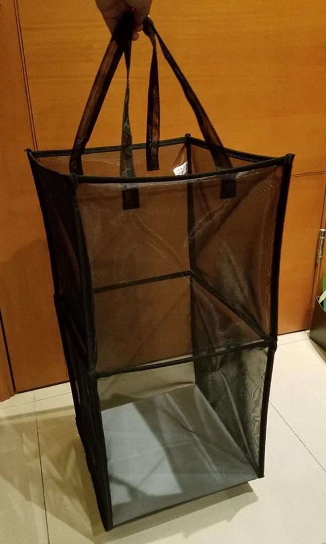 可摺疊厚身尼龍網袋,13×13×26吋高