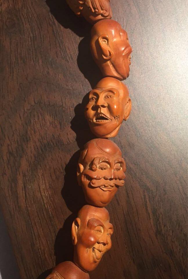 舊 18羅漢欖核彫刻