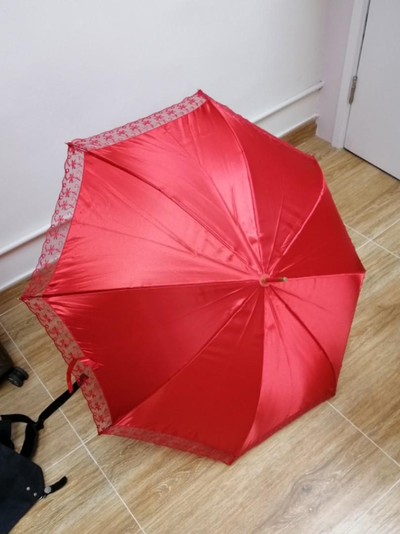結婚物資 紅傘