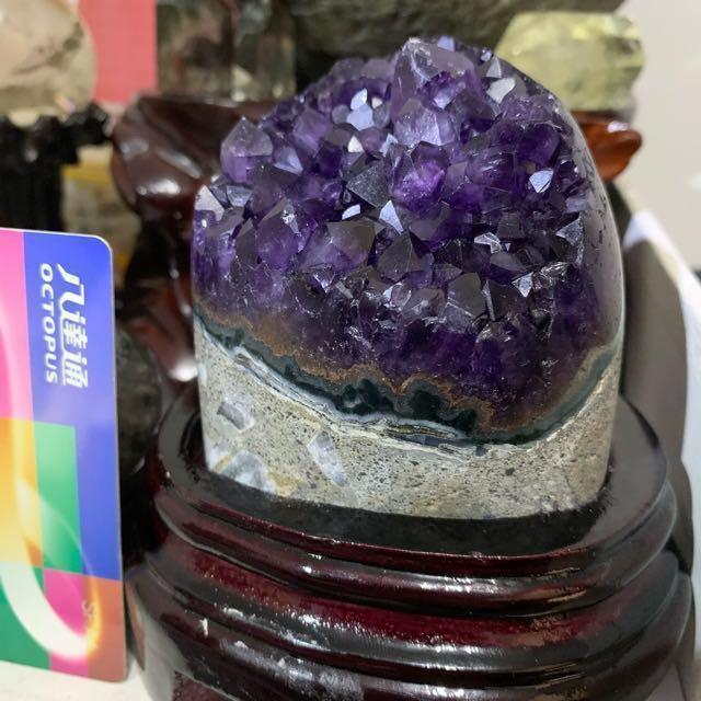 (減價)天然烏拉圭紫晶簇 - 淨化手鏈/擺設