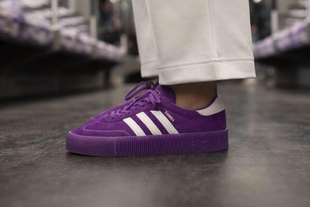 adidas samba rose purple