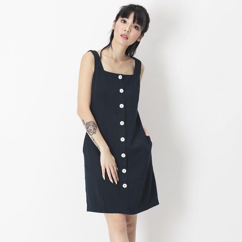 024039a14ee AforArcade Monique Button Dress (Navy)