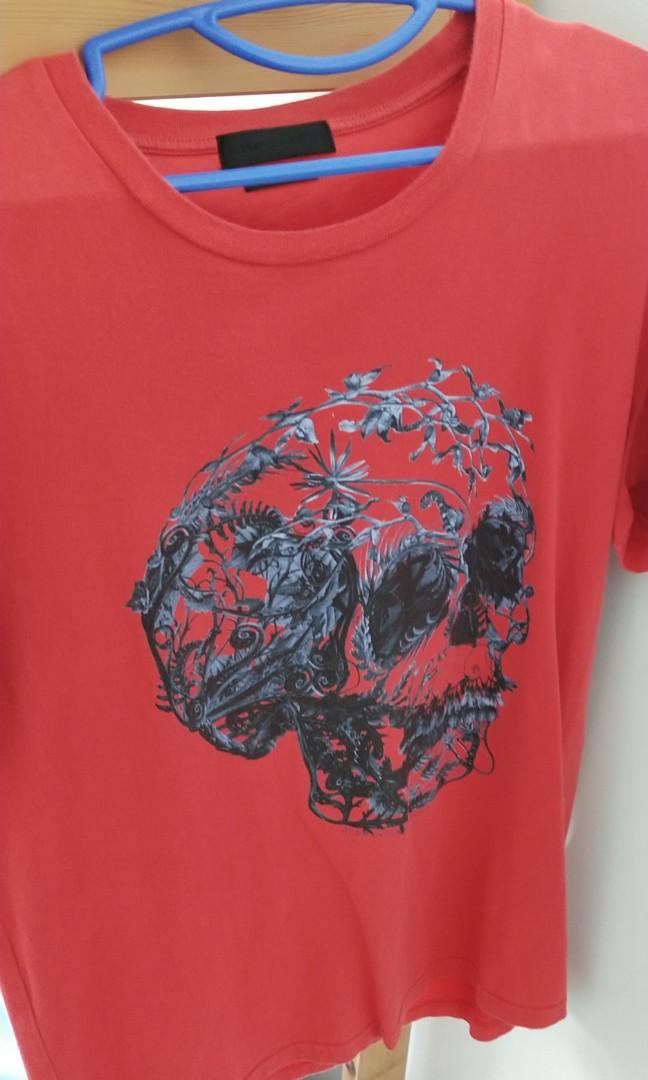 Alexandra McQueen skull shirt