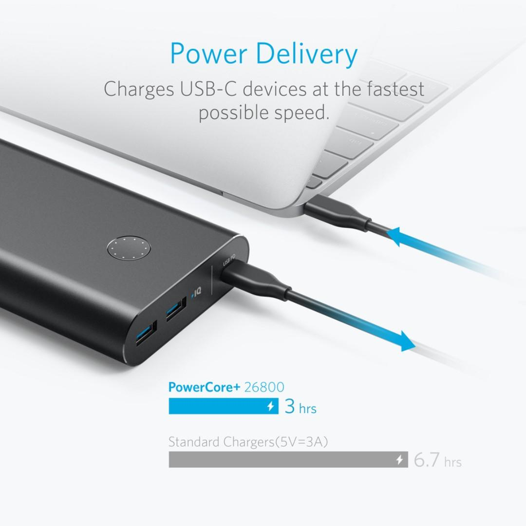 Anker PowerCore+ 26800 PD with 30W Power Charger 行動電源