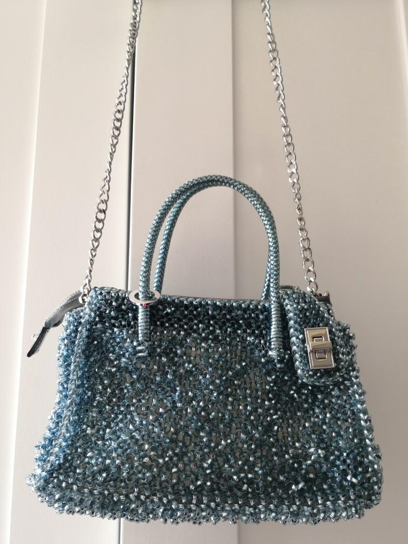 Anteprima wirebag (意大利)閃藍色 則揹 斜揹 手挽偕宜