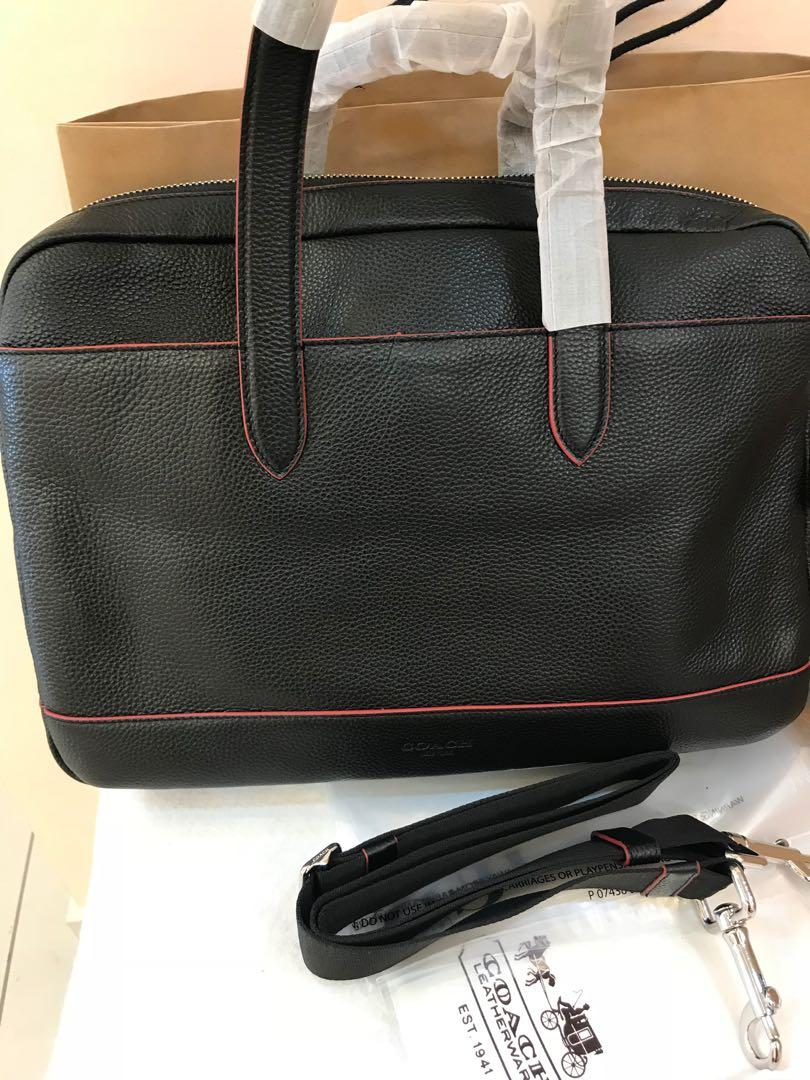 Authentic Coach men briefcase office bag laptop bag 11319