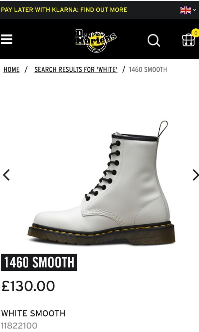 *pending*Authentic Dr Martens wair 1460 smooth boots in white