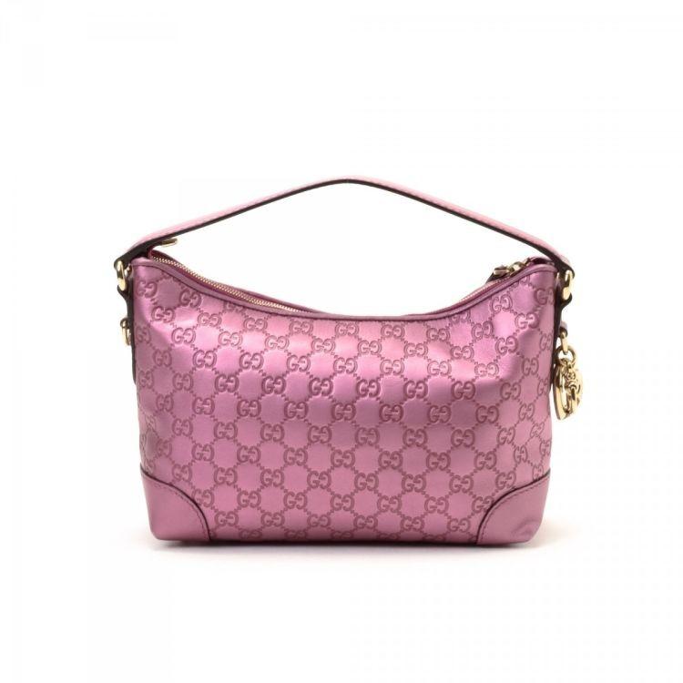 98143c2849bc Authentic Guccissima Heart Bit Charm Bag (Metallic Pink), Luxury ...