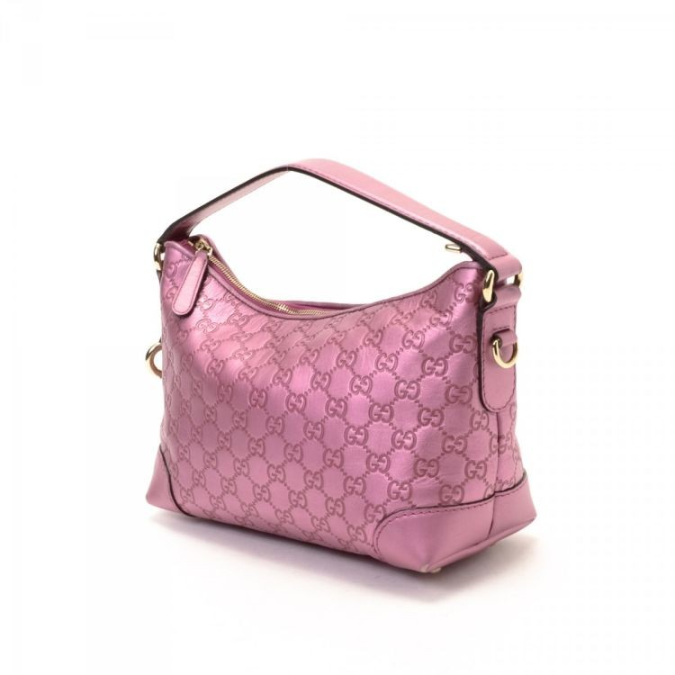 bbd255ae8533 Authentic Guccissima Heart Bit Charm Bag (Metallic Pink), Luxury, Bags &  Wallets, Handbags on Carousell