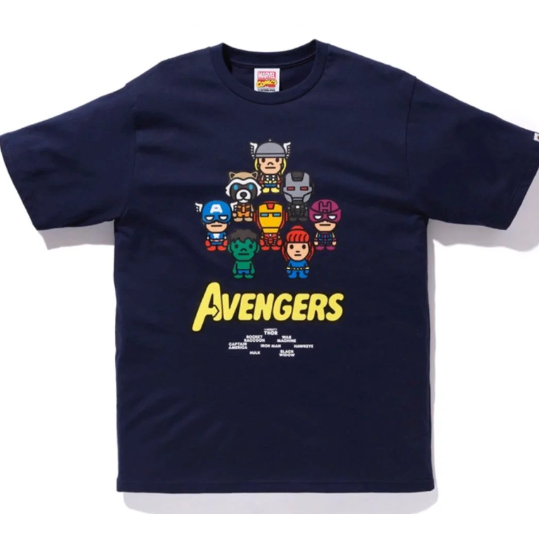 ee6e4fa7 BAPE MILO AVENGERS TEE, Men's Fashion, Clothes, Tops on Carousell
