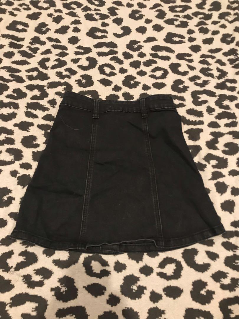 Black Supré Denim Skirt