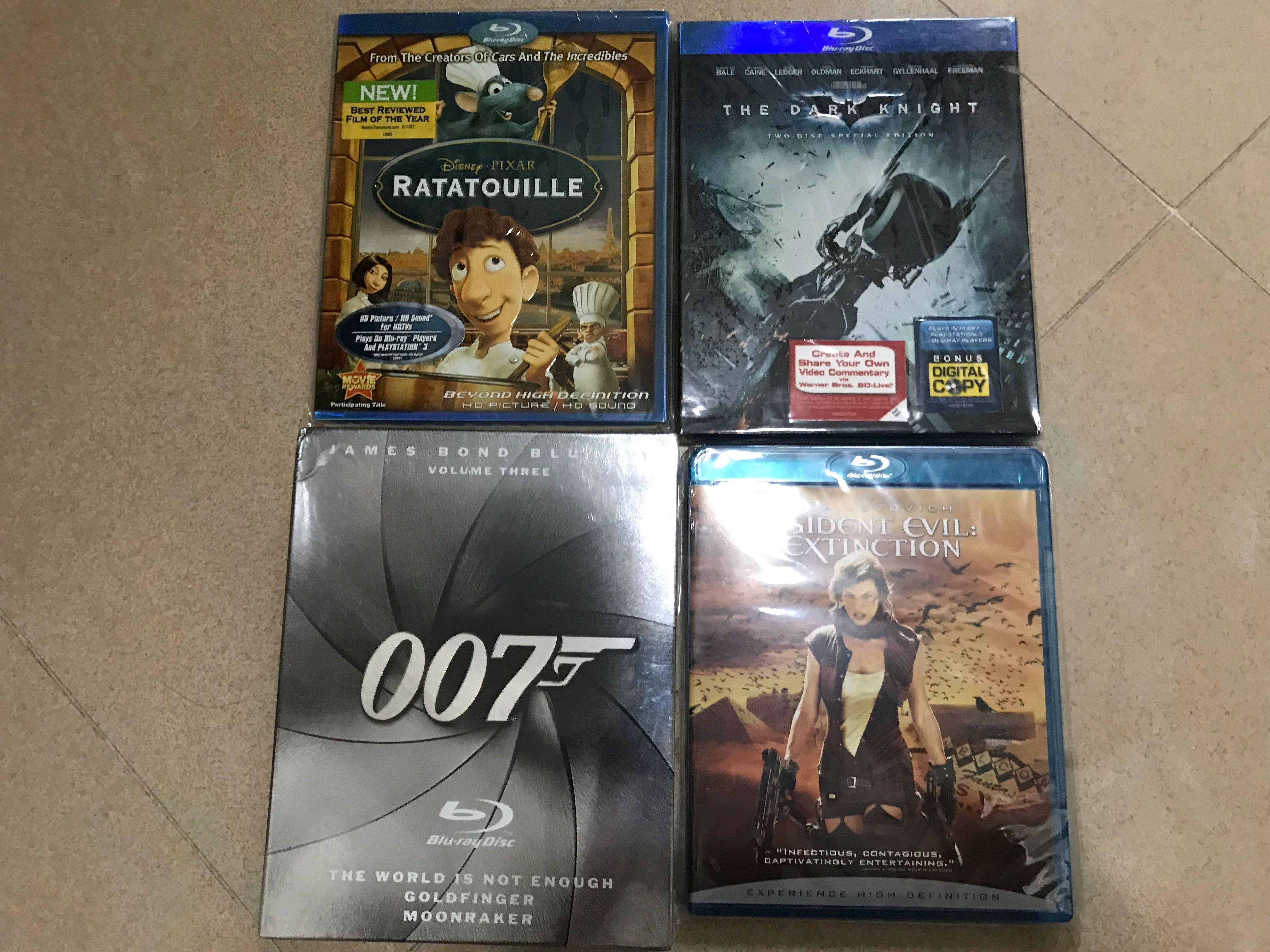 Blu ray movies $50 each; 007 $150