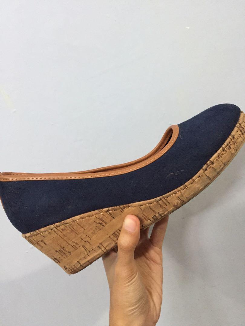 Blue Wedges/Sepatu Wedges