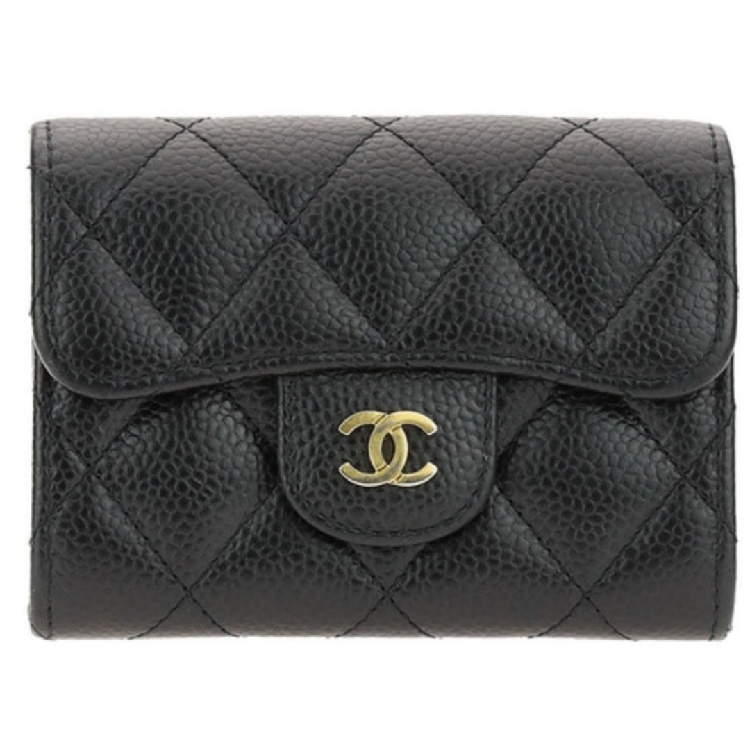 53847c5834b9 BNB CHANEL CLASSIC SHORT WALLET - Black with GHW, Luxury, Bags ...