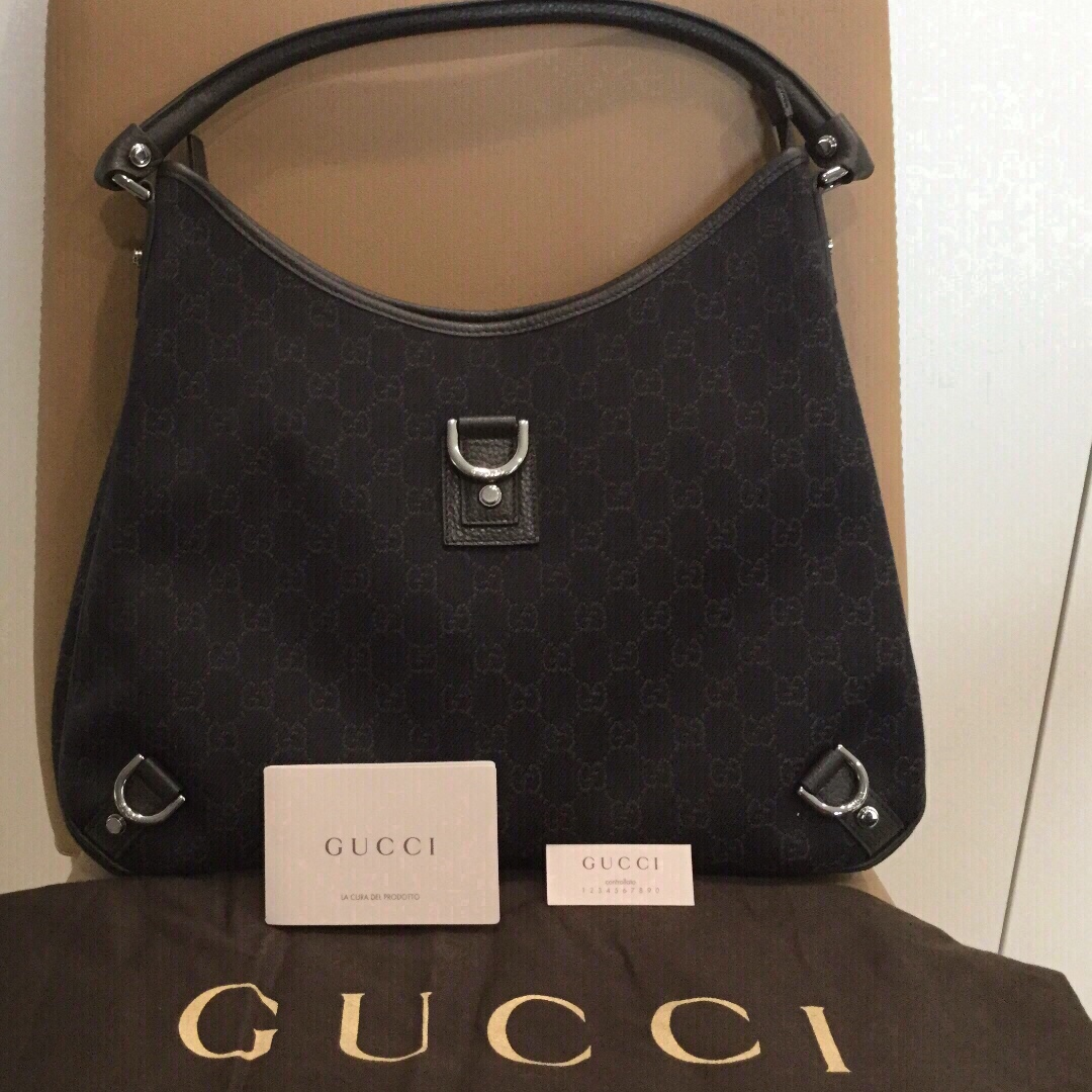 ce499d6bd08e Brand NEW 100% Authentic Gucci Abbey Large Brown Shoulder Bag ...