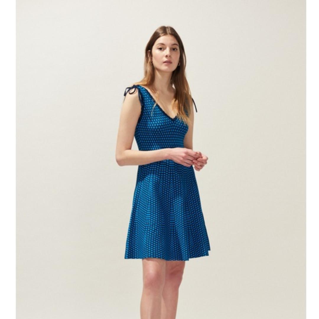 Brand New! Claudie Pierlot low-cut textured knit dress