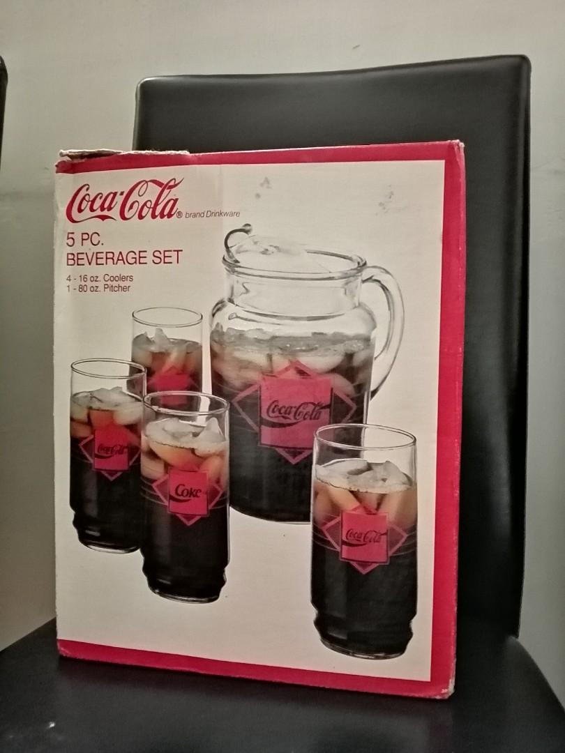 (Brand New) 1992 Coca Cola 5pc Beverage Set