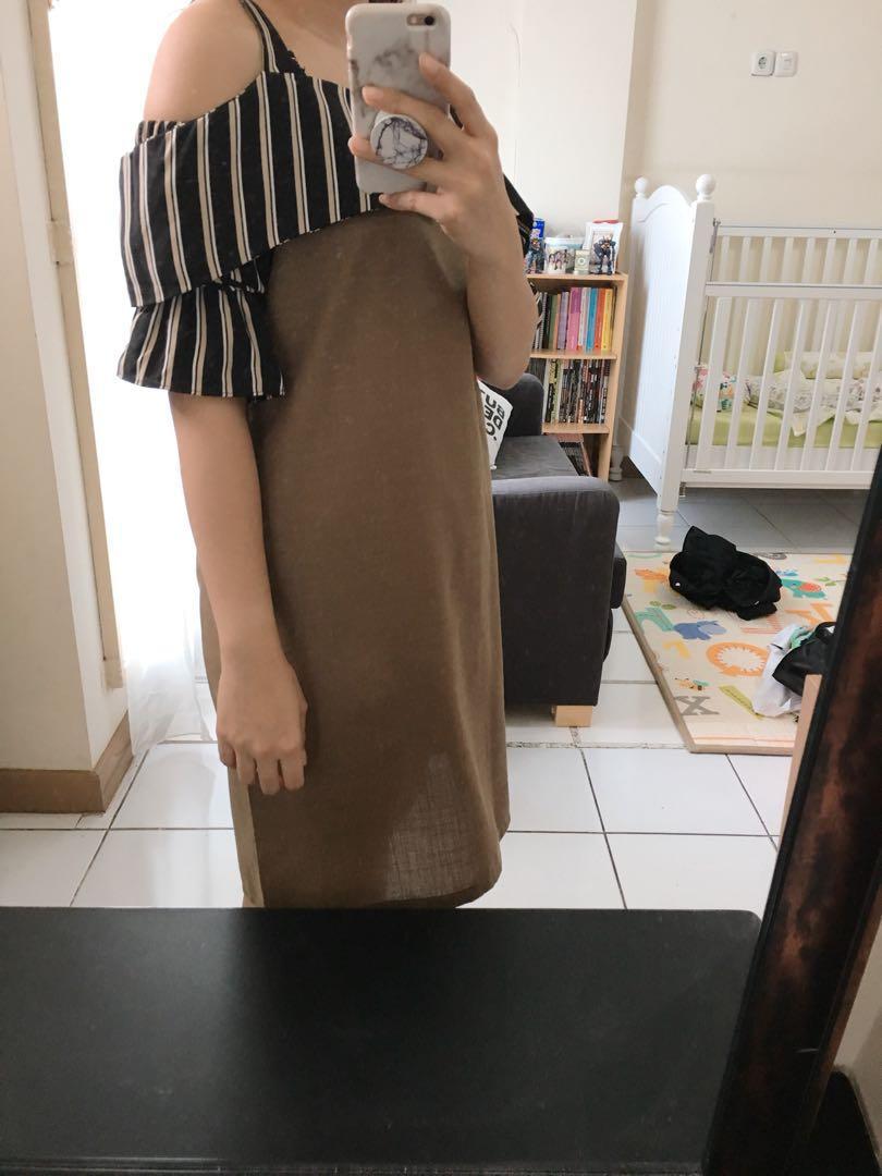 Brown stripe dress