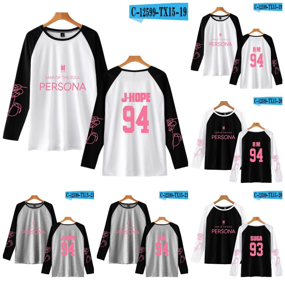 BTS MAP OF THE SOUL PERSONA RAGLAN LONG SLEEVE SHIRT