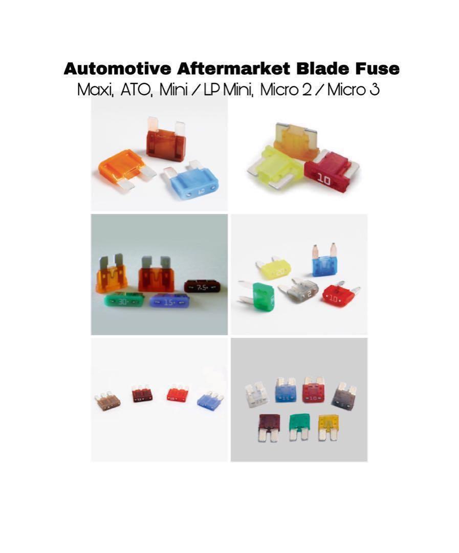Car Fuse Automotive Aftermarket Blade Fuse 1A 2A 3A 4A 5A 7.5A 10A 15A 20A 30A 40A 50A 60A 70A 80A Standard mini low profile mini small medium ato maxi micro