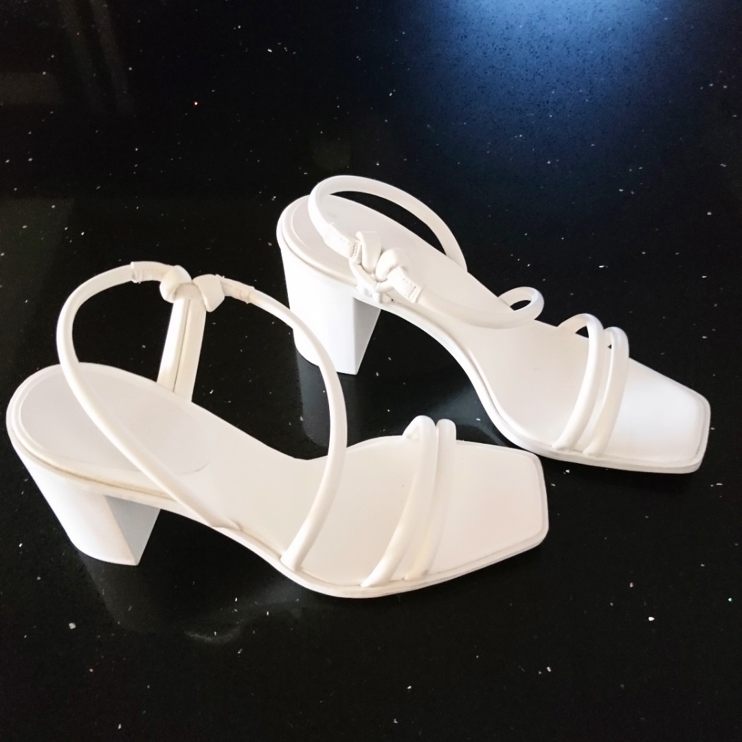 741891d7d8df Charles & Keith White Shoes, Women's Fashion, Shoes, Heels on Carousell