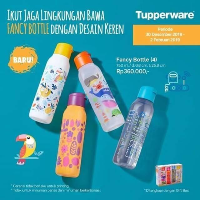 #cintabumi Botol minum Tupperware fancy