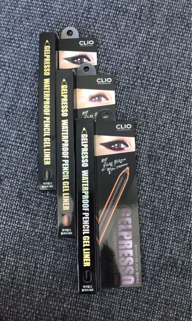 Clio Gelpresso Waterproof Pencil Gel Liner BRAND NEW