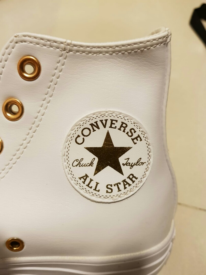 Converse Sneakers - White Gold