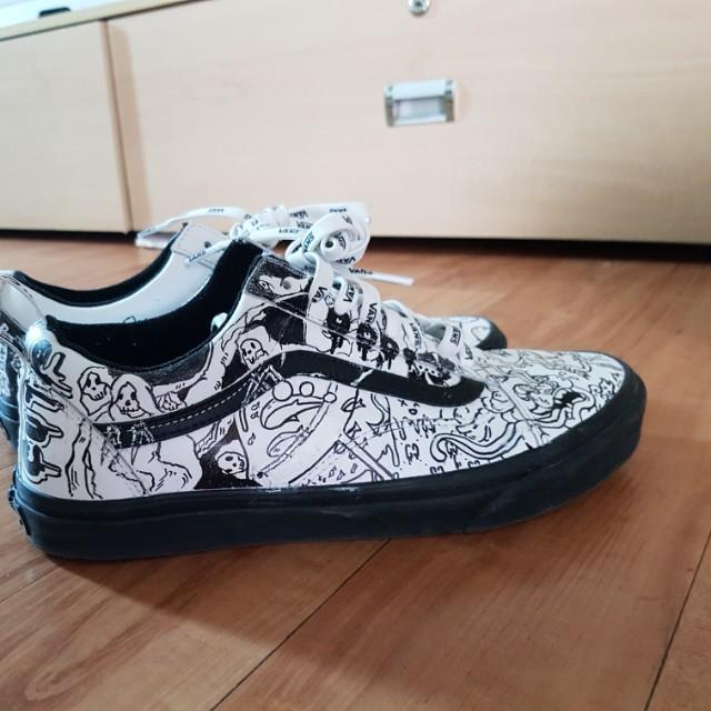klasyczne buty najlepiej autentyczne buty temperamentu Custom cartoon vans (authentic), Men's Fashion, Footwear ...