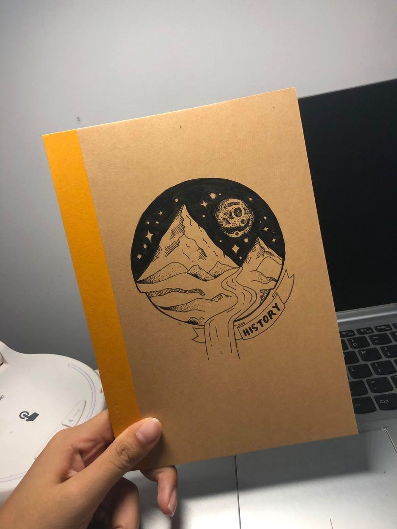 customisable calligraphy muji notebooks