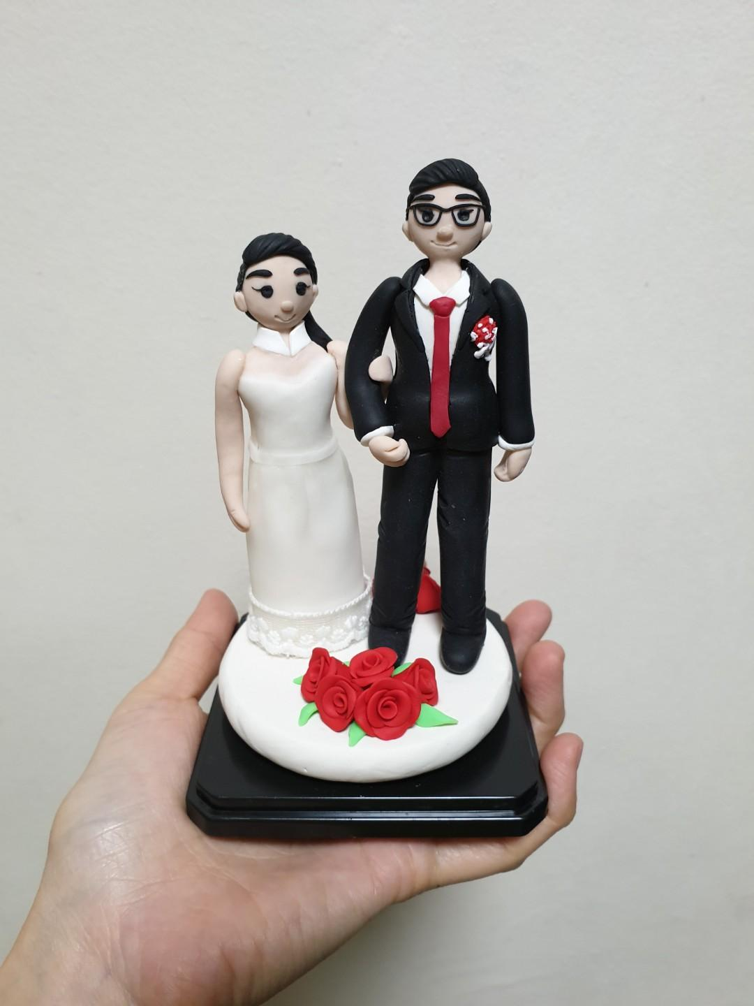 Customise wedding couple made of polymer clay