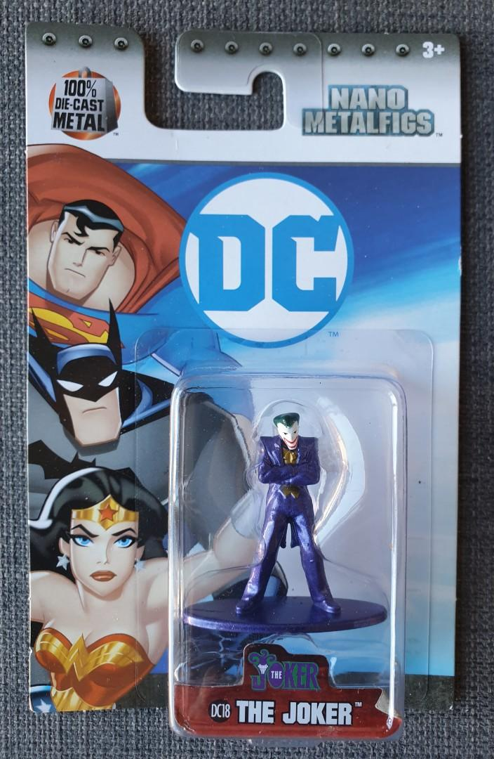 DC Nano Metalfigs. Batman Catwoman Penguin Joker 100% Die Cast Metal