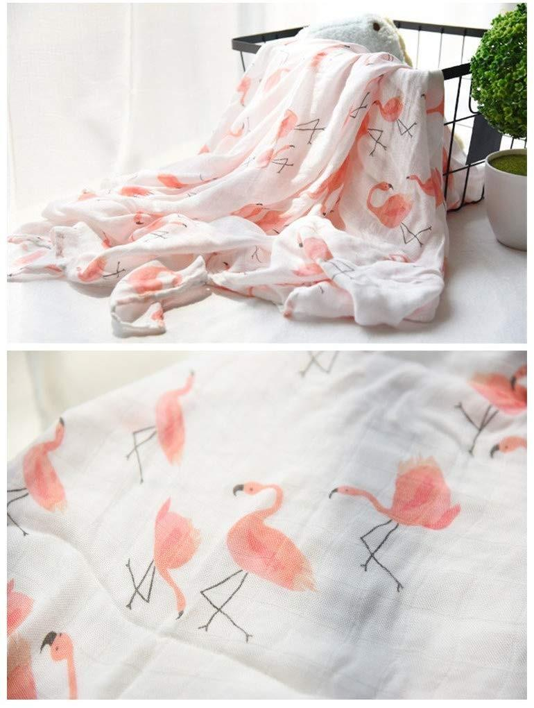 Flamingo Bamboo Swaddle 70% bamboo 30% cotton (Price reduced)