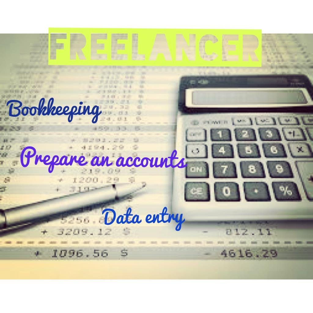 Freelancer: Bookkeeping, Accounts, Data entry and Admin