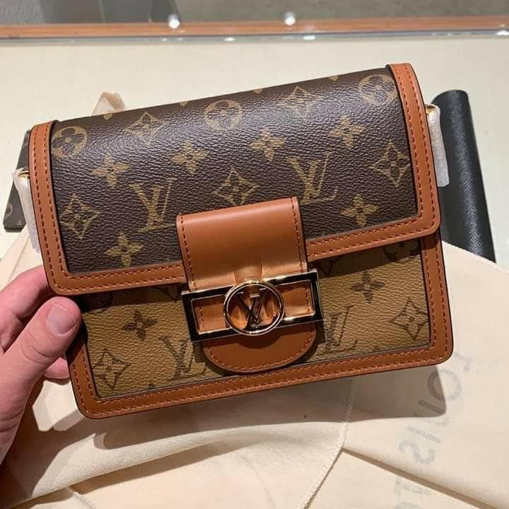 Fresh Catch! Louis Vuitton Mini Dauphine Reverse Monogram complete set with ori receipt 27 April 2019