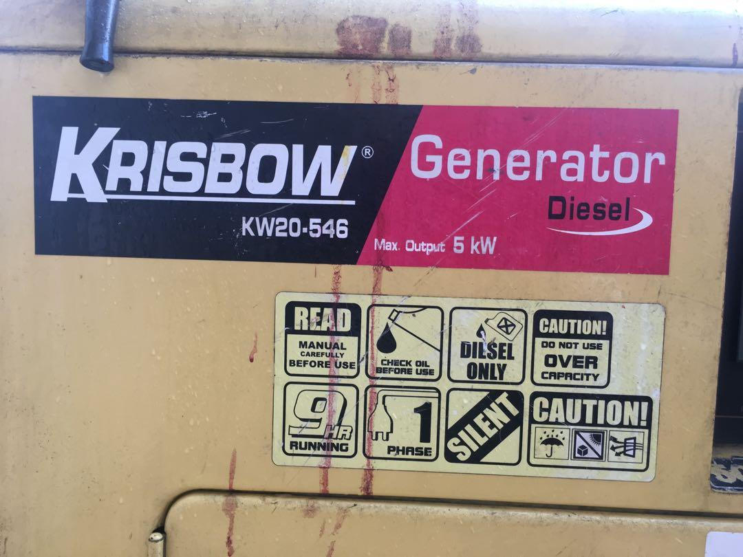 Genset Krisbow kw26-80 (5kva)