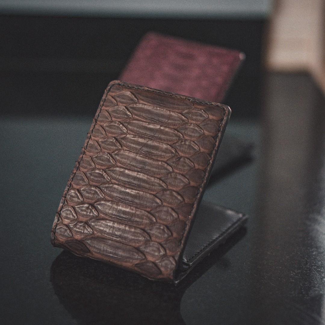 Genuine Python Handmade Bifold Wallet