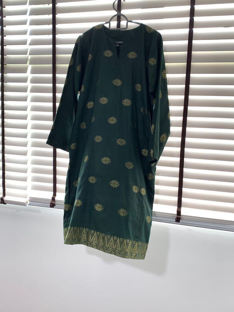 Green Baju Kurung Songket